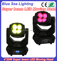 4x25w super beam led moving head up and down dj equipment