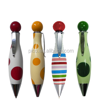 Colorful Mini Fat Acrylic Ball Pen with Custom Printing