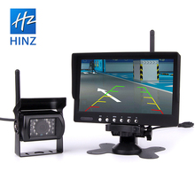 China night vision wireless 7 inch monitor car rearview camera system with HD camera