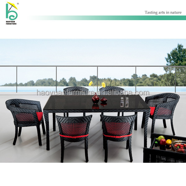 special design table rattan furniture outdoor