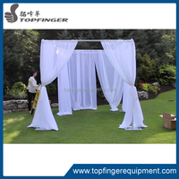 White chiffon Ceiling Drapes stand for wedding and party
