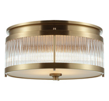 Factory-outlet modern indoor round antique brass crystal ceiling lamp