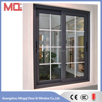Aluminum sliding vinyl window with grids view sliding for Vinyl windows company