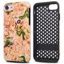Full Color Printing Custom Combo PC Silicone Phone Case for iPhone 7