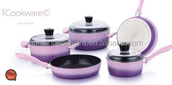 gradient color cookware set