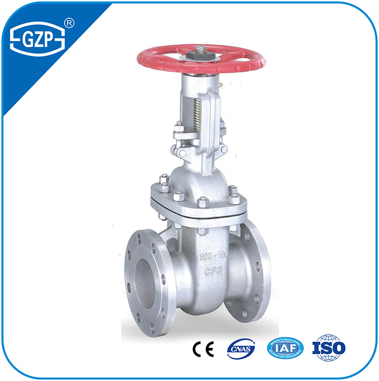 JIS B2073 B2083 10K SUS304 SUS316 Cast Stainless Steel CF8 CF8M Wedge Flanged Gate Valves