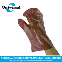 Promotion disposable colored dog poop gloves