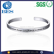 Customer's Own Logo Accepted Pulseras Charm Alloy Jewelry Wholesale Sikh Kara BF Cuff Bangle