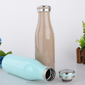 Double wall stainless steel vacuum bottle for kids drinking milk