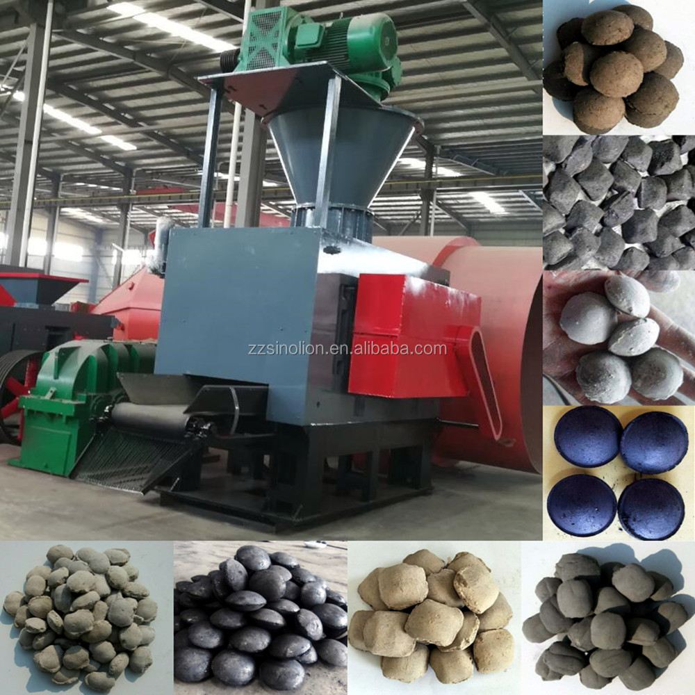 Hydraulic cooking charcoal coke dry powder lime fines coal briquette making machine price