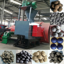 Hydraulic cooking coal coke dry powder lime fines charcoal briquette making machine price