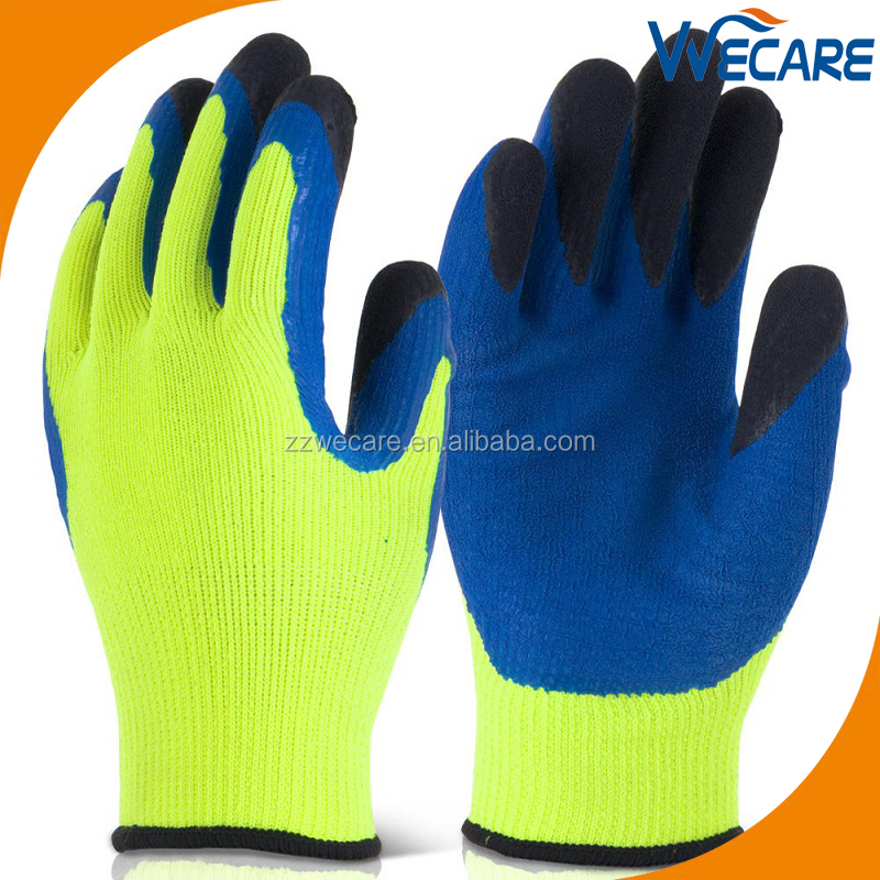 Multi Purpose Latex Form Fitting Gloves With Double Coating Latex On Fingers