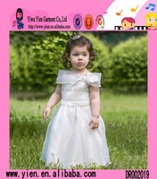2015 New Europe Style Elegant Baby Wedding Dress Custom Long Design Boutique Store Fashion Kids Party Wear Girl Dress
