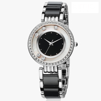 similar designs of Women's USC40061 Analog Display Analog Quartz Two Tone Watch black bracelet and dial