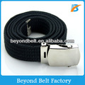 Beyond Black Solid Color Military Canvas Web Belt One Size Fits All