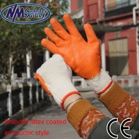 NMSAFETY cheap 7g latex glove natural cotton lined latex gloves