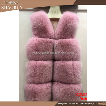 High Quality New Real Fox Fur Vest /Dyed Fashion Women Fox Fur Gilet