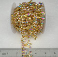 10 Yards high quality 25mm crystal ab color rhinestone bridal trim chain