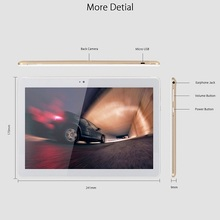 10.1 inch capacitive IPS touch screen MTK6753 Octa core 3G RAM 64G ROM Android 6.0 4G lite tablet pc(K109)