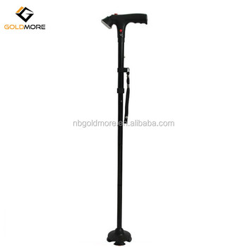 Goldmore Professional LED Adjustable Folding Walking Cane with LED Light and alarm for for Old Gentleman or Lady