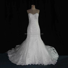 Real Sample New Variety Fit and Flare Sexy Wedding Dress for Mature Bride