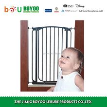 Easy Close Metal Baby Gate, White,pet friendly baby safety gate