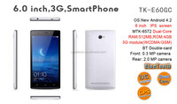 Top selling unlocked 6 inch 3g smart cell phone bulk buy from china