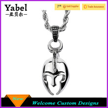 Titanium Steel Pendant Necklace Warrior Helmet Pendant Necklace Men's Accessories