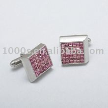 Fashion jewelry 925 steling silver cufflinks/ crystal cufflinks