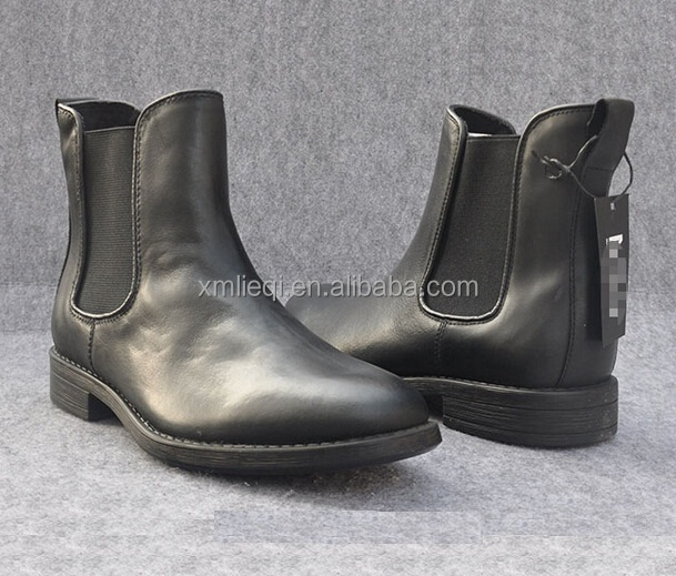 100 Casual Genuine Leather SHOES FASHION WINTER BRANDED MEN CHELSEA BOOTS Genuine leather shoes