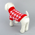 100% quality acrylic yarn two legs turtle neck Houndstooth design dog clothes apperal korea dog xxx