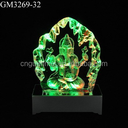 LED Iceberg Customized Handmade Glass Souvenirs