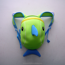 2015 Cute Child Cartoon Dolphin Backpack for little baby