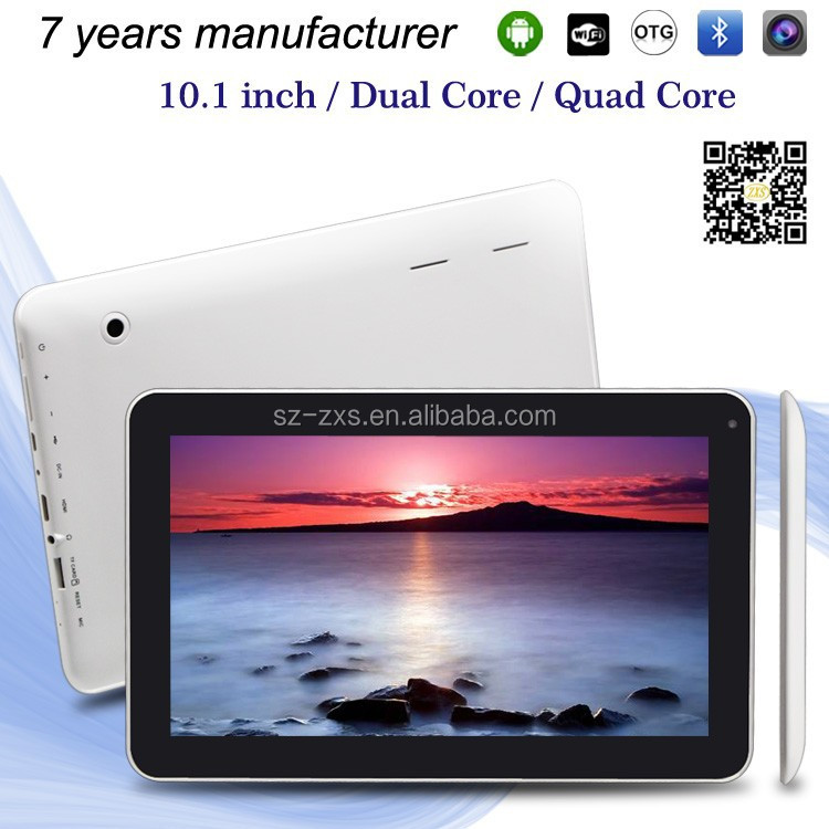 "ZXS-10-w 10.1 inch Android 4.4 MID with 5 Points Capacitive 10"" Android Tablet Super MID with Dual Camera bluetooth"
