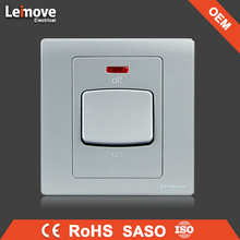 OEM for saso electric switch making machines 45A gray faceplate one gang one way switch