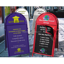 free standing metal double sides outdoor poster iron A frame sign