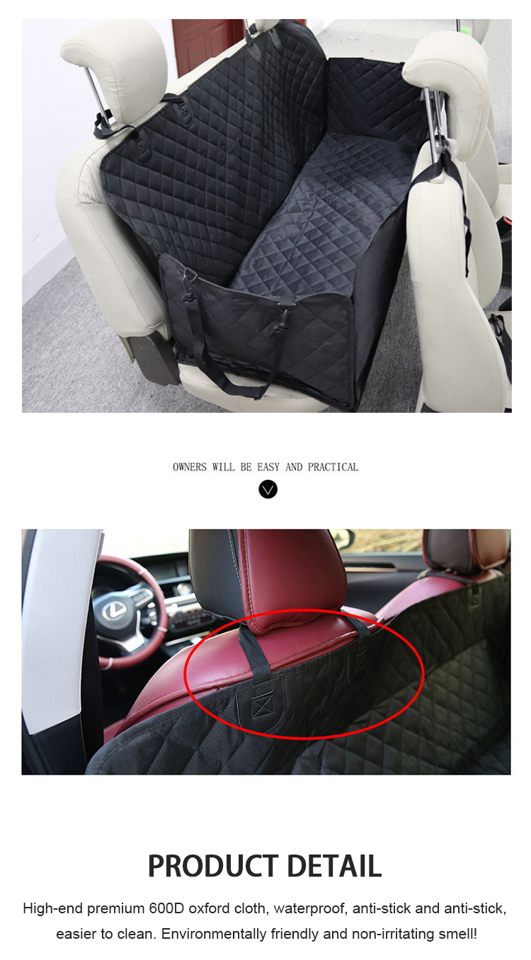 CW-B-007 100% Waterproof Dog Seat Cover Pet Seat Cover For Cars and SUV