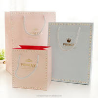 Durable in use hot-sale wine paper gift bag with box inside