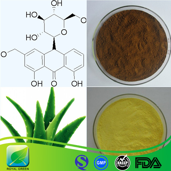 natural botanical extract 98% Aloin Aloe Vera Extract powder with low price