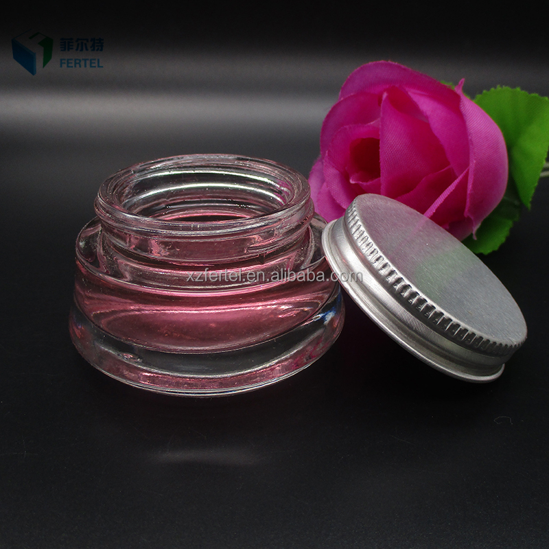 High quality 25ml round glass cosmetic packaging cream jar for skin care