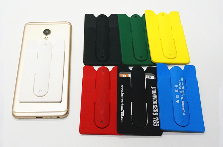 Protective Smart Wallet Top Quality 3M Sticky Silicone Mobile Phone Card Holder