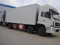 30 tons Dongfeng new model 6x2 container box truck with tail board