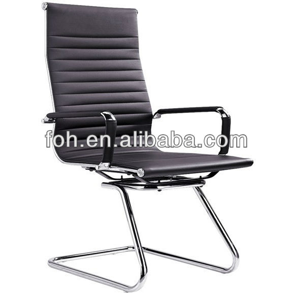 Modern conference chair,leather office chairs without wheels(FOHF11-C)