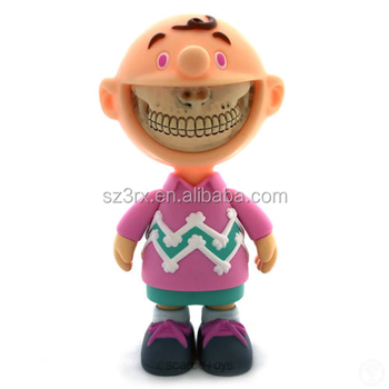 Customized OEM Grinnig teeth smile boy action figure toys/OEM plastic vinyl figure toys/Custom PVC vinyl figure factory