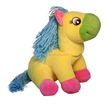 Facory Wholesale Sitting Yellow Horse Plush Toy