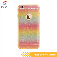 High quality fashionable soft tpu crystal protective shell for iPhone 6