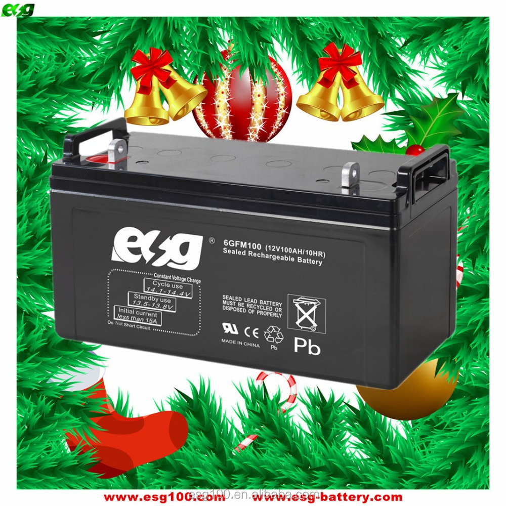 Rechargeable flooded charge ups batteries 12v 100ah lead acid battery