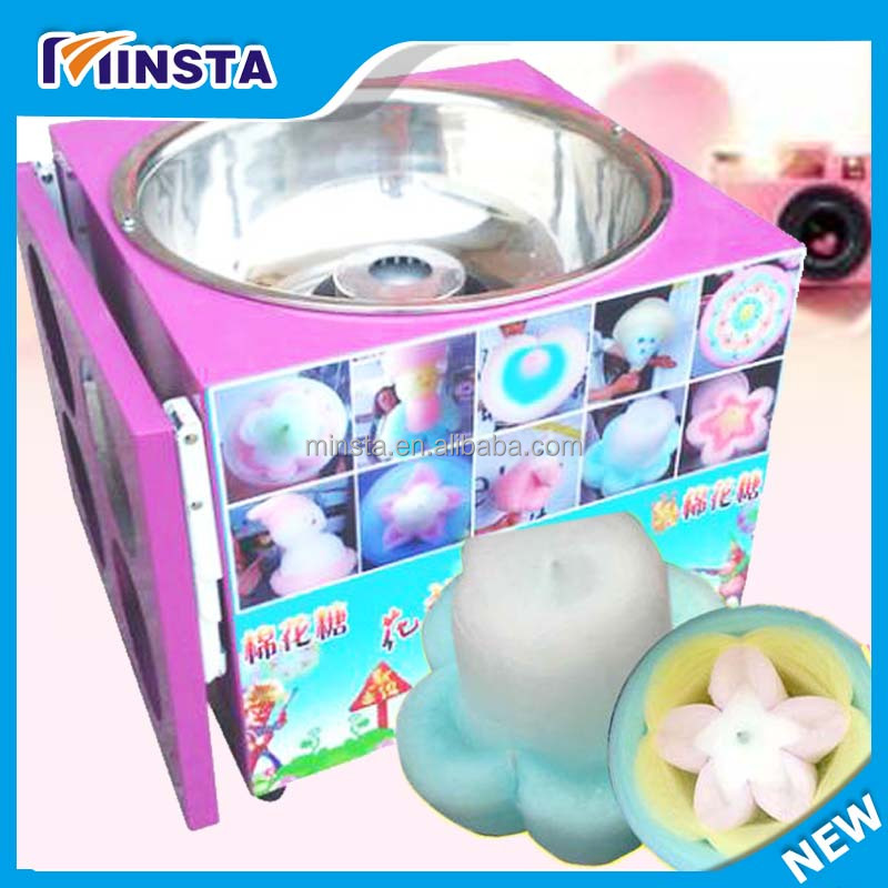 2017 NEW professional commercial electric automatic flower cotton candy machine price