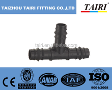 Plastic barbed Tee connector / Fitting pipe Connector Barb Tee / pipe fitting names and parts