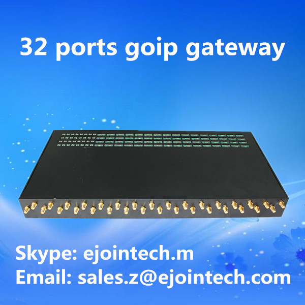asterisk sip ussd wireless goip message and calling 32 channels gsm goip gateway equipment